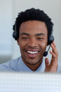 Employee working for call centers